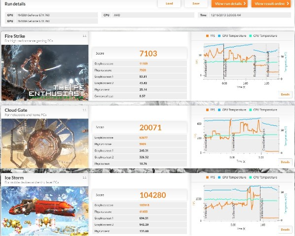 3dmark advanced with amd bench