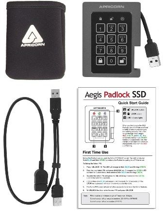 Apricorn Aegis Padlock SSD specifications