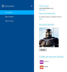 switch from microsoft live account to offline account in windows 8.1