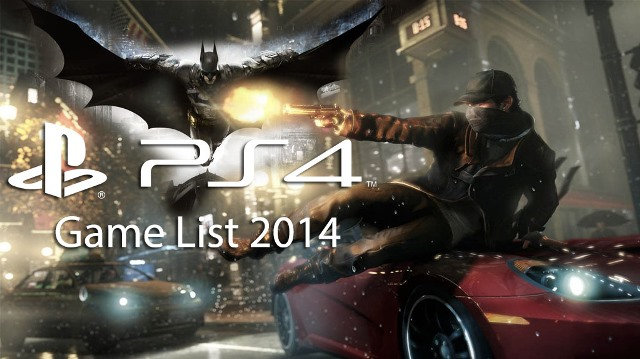 complete list of ps4 games this 2014