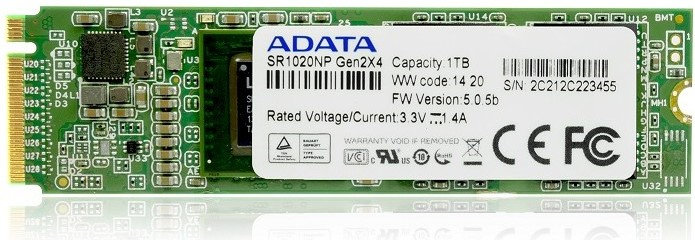 ADATA SR1020NP M.2 NGFF SSD Revealed – Features Up to 1TB Capacity and 1.8GB/s Speed