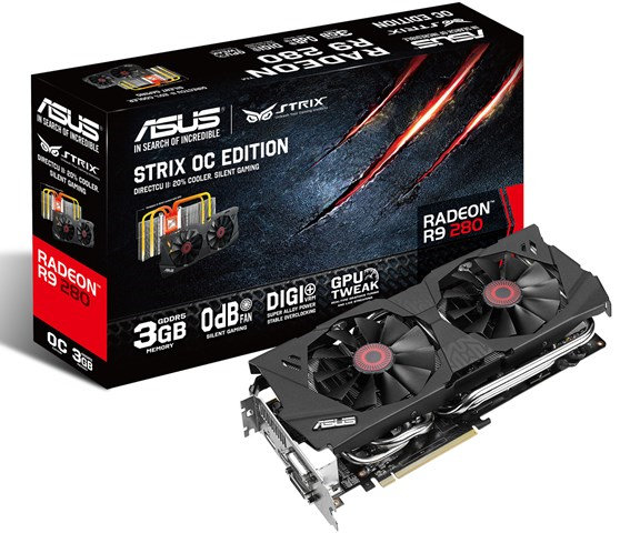 Asus STRIX R9 280 and STRIX GTX 780 6GB OC Edition Unleashed – See Features, Specifications, Price and Availability