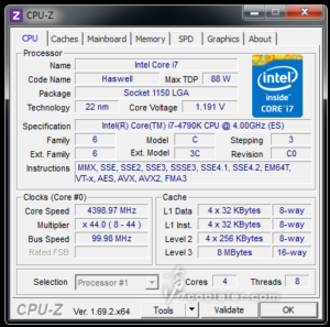 Intel Core i7-4790K CPU-Z