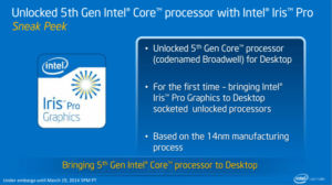 5th gen intel broadwell k series unlock processors specs