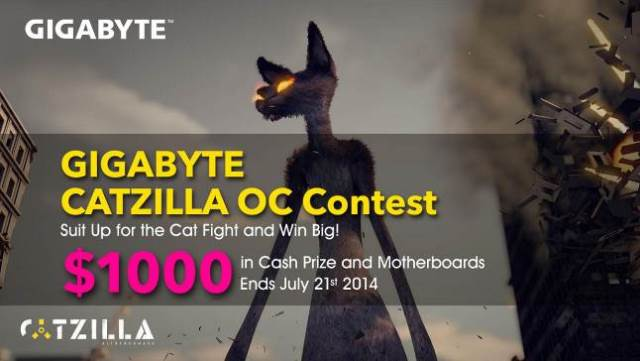 GIGABYTE CATZILLA OC Contest – Win $1000 in Cash Prize and Motherboards