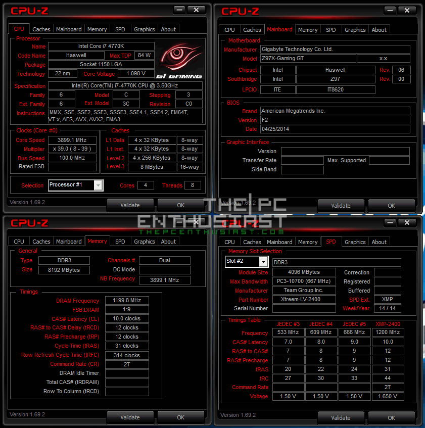 Team Xtreem LV DD3 2400 CPU Z