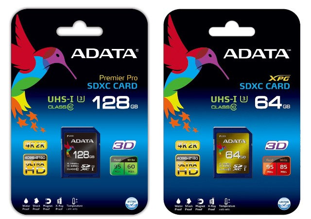 ADATA SDXC UHS-I U3 (Speed Class 3) Cards Released – Supports 4K Ultra HD Video Capture