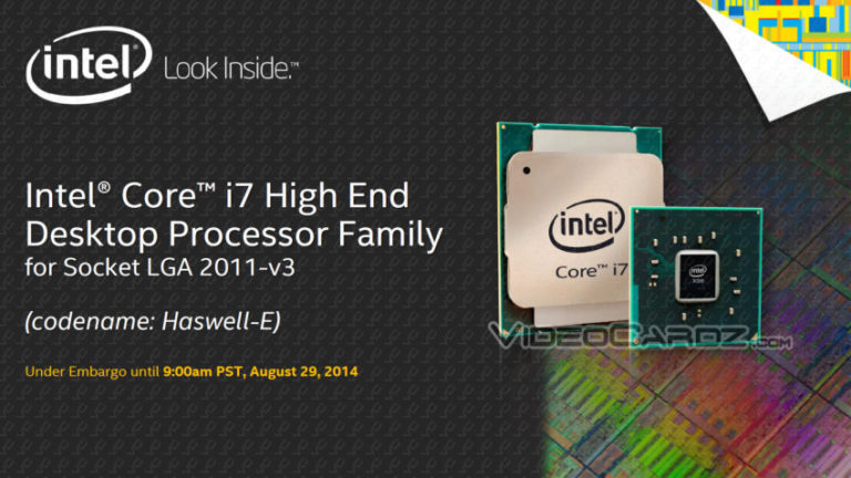 Intel Core i7-5960X, Core i7-5930K and Core i7-5820K Haswell-E Processors Features, Specifications and Prices Revealed