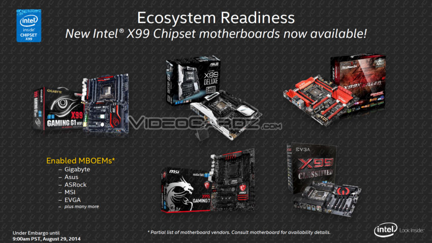 Intel X99 Chipset Motherboards