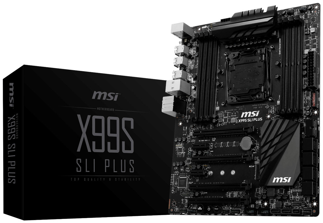 MSI X99S SLI Plus Motherboard Revealed – Features an All Black Color Design