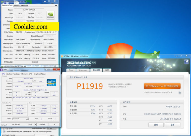 NVIDIA GeForce GTX 870 GPU-Z Specifications and 3DMark 11 Benchmarks Leaked