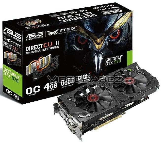 Asus STRIX GTX 970 OC 4GB Shows Up with Red Eyes
