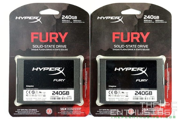 Kingston HyperX Fury 240GB SSD Review – With RAID 0 Benchmarks