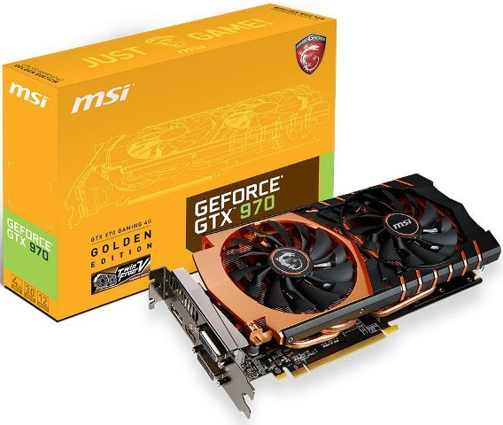MSI GeForce GTX 970 Gold Edition OC Unleashed – See Features and Specs