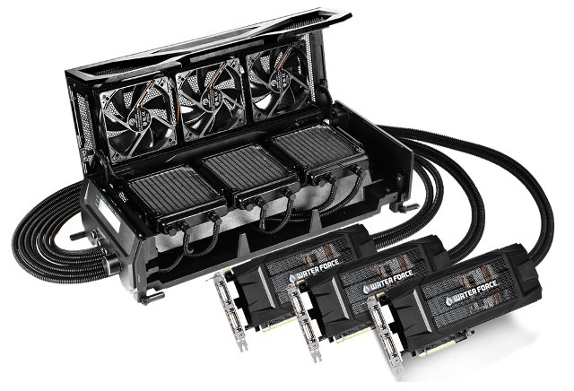 GIGABYTE GTX980 G1 Gaming WATERFORCE 3-Way SLI Kit GV-N980X3WA-4GD