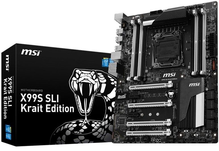 MSI X99S SLI Krait Edition Unleashed – Black and White X99 HEDT Motherboard