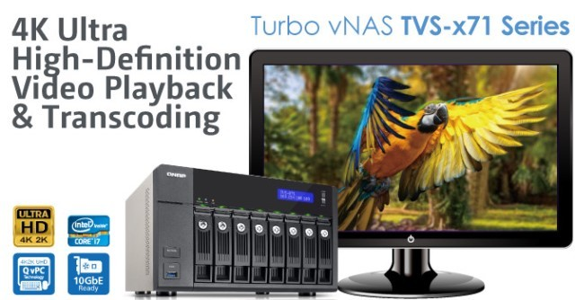QNAP TVS-x71 Series Turbo vNAS Released