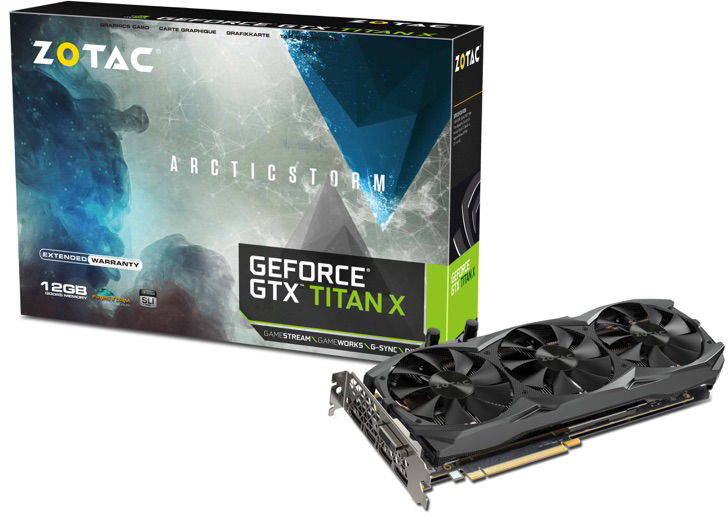 ZOTAC GeForce GTX TITAN X ArcticStorm Unleashed – Features Custom Hybrid Cooling Solution