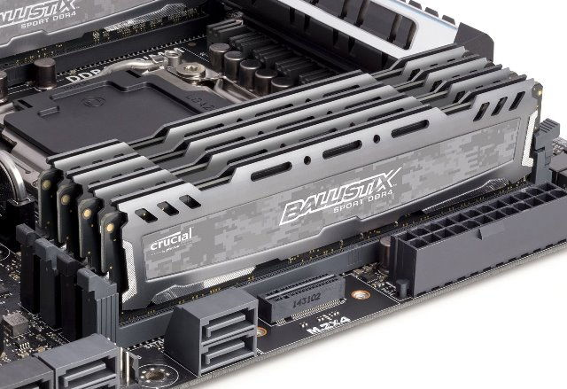 Crucial Ballistix DDR4 16GB Memory Module Now Available