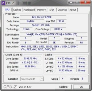 Intel Core i7-6700K Overclocked