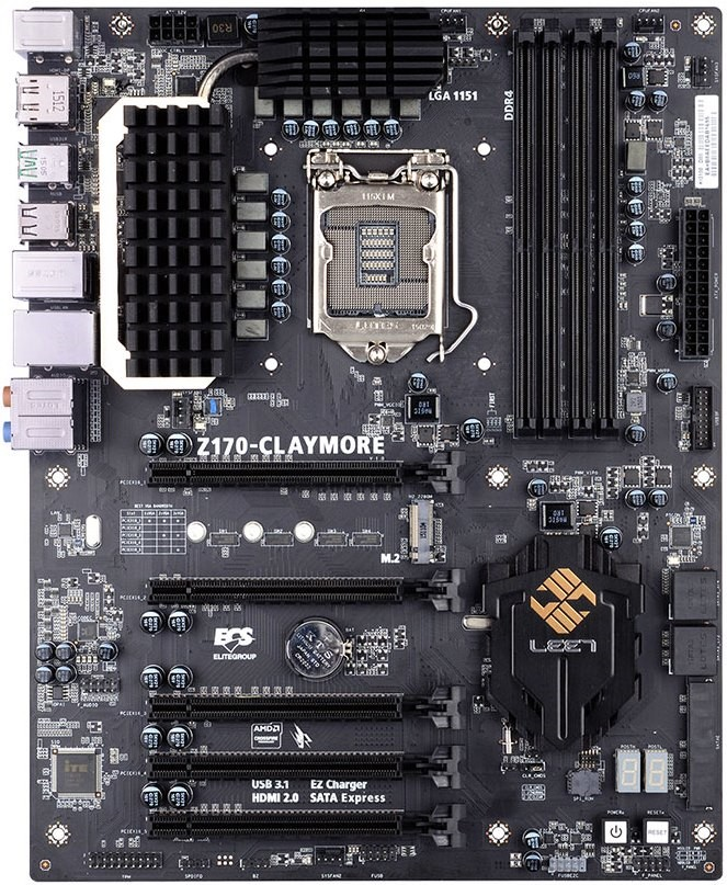 ECS Z170-CLAYMORE LEET Gaming motherboard-01