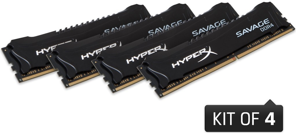 HyperX Savage DDR4 Memory Modules Unleashed by Kingston