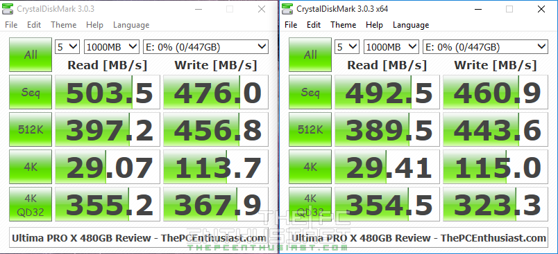 Integral UltimaPRO X CrystalDiskMark Benchmark