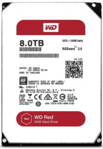 WD Red 8TB Helium-filled hard drive