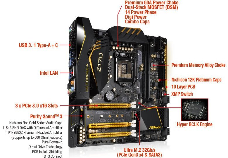 ASRock Z170M OC Specifications