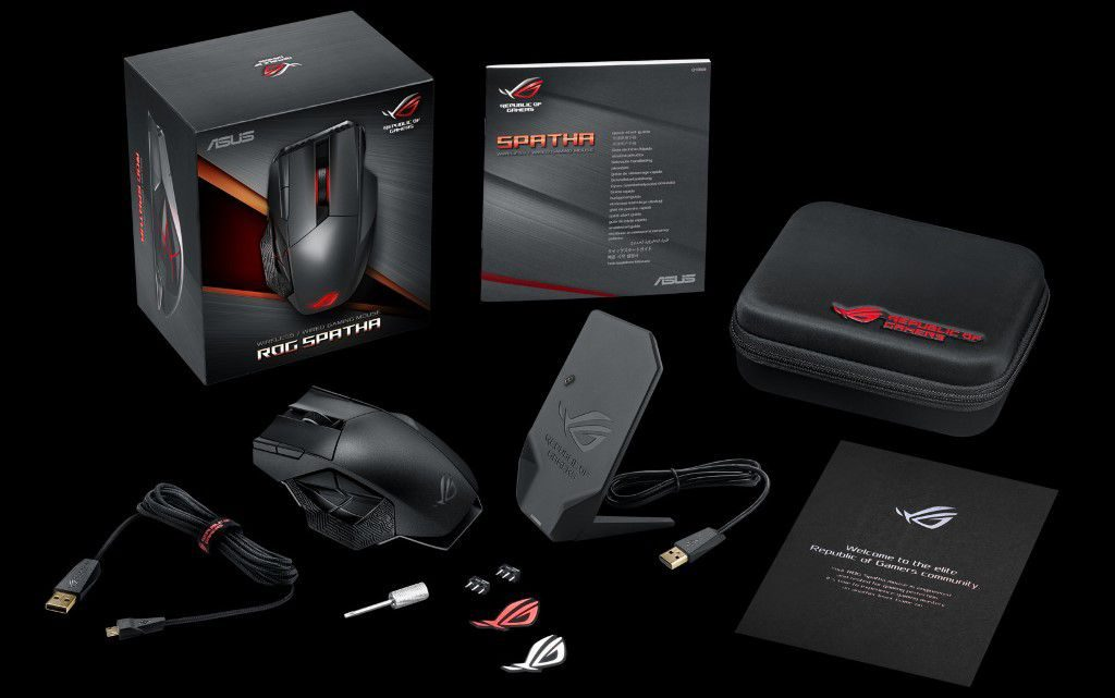 Asus ROG Spatha Wireless MMO Gaming Mouse-01