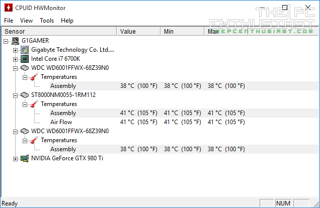 WD Red Pro 6TB idle temps