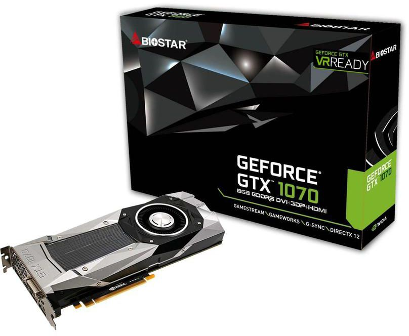 Biostar GeForce GTX 1070 graphics card