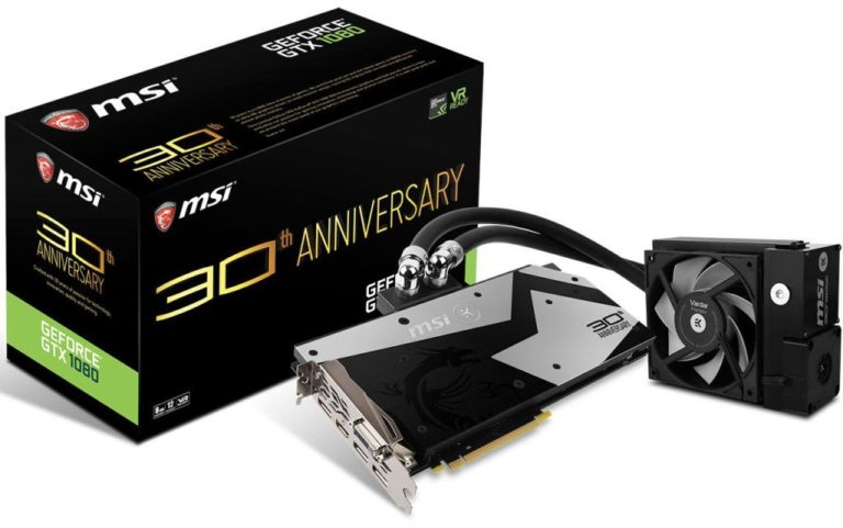MSI GeForce GTX 1080 30th Anniversary Edition Announced – Cooled with EK Waterblock