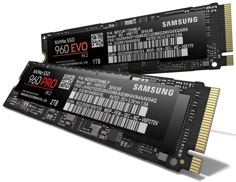Samsung 960 PRO and 960 EVO NVMe M.2 SSD Unleashed – See Specs, Features and Price