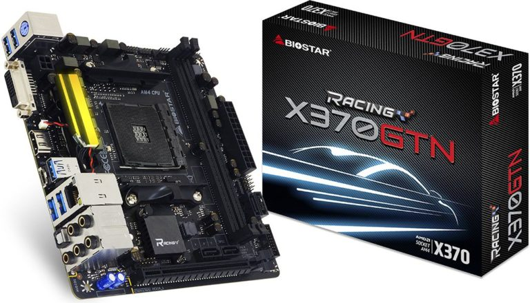 BIOSTAR X370 and B350 Mini-ITX Ryzen Motherboards Released