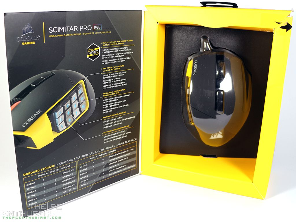 Scimitar PRO Wired Optical Gaming Mouse with RGB Lighting CORSAIR Yellow