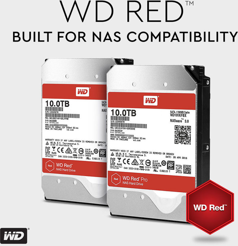 WD 10TB Red and Red Pro NAS Hard Drives Now Available