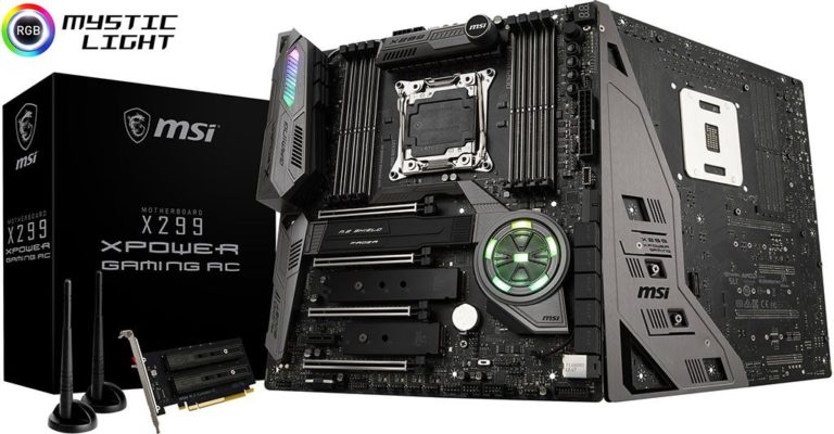 MSI X299 XPOWER Gaming AC Motherboard Released – See Features and Specs