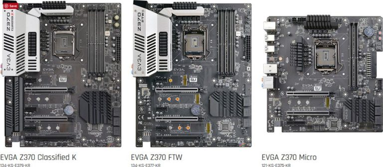 EVGA Z370 Classified K, FTW and Micro Motherboards Revealed – See Features and Specs