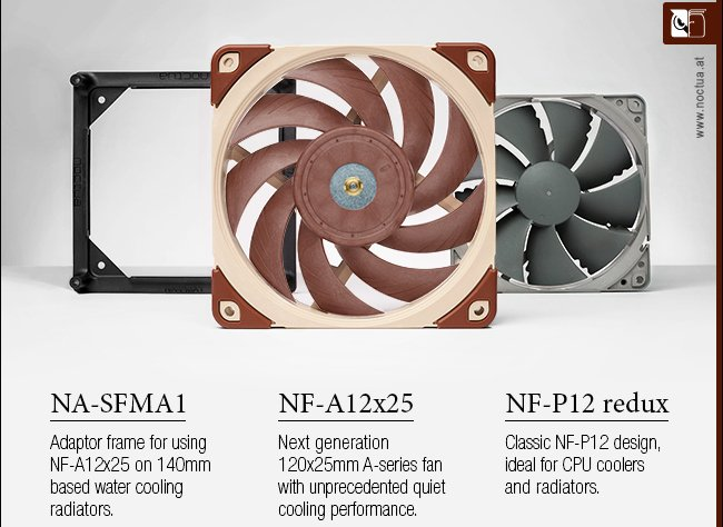 Noctua NF-A12x25 120mm High Performance Fan Released – See Features, Specs and Price