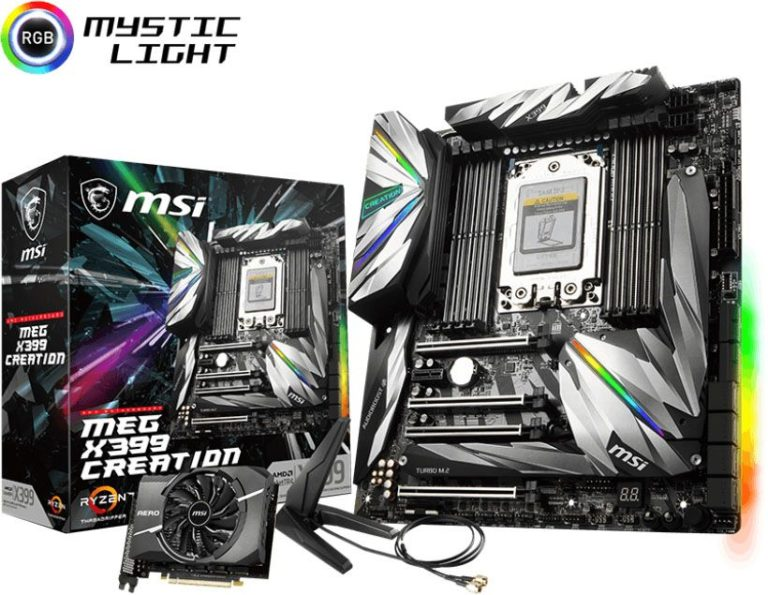 MSI MEG X399 Creation Now Available – See Features, Specs and Price