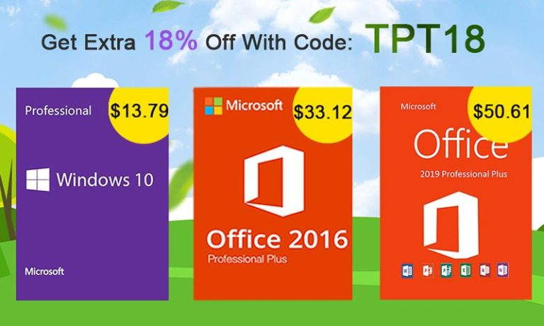 Get Windows 10 Pro Global OEM Key For $13 With 18% Discount