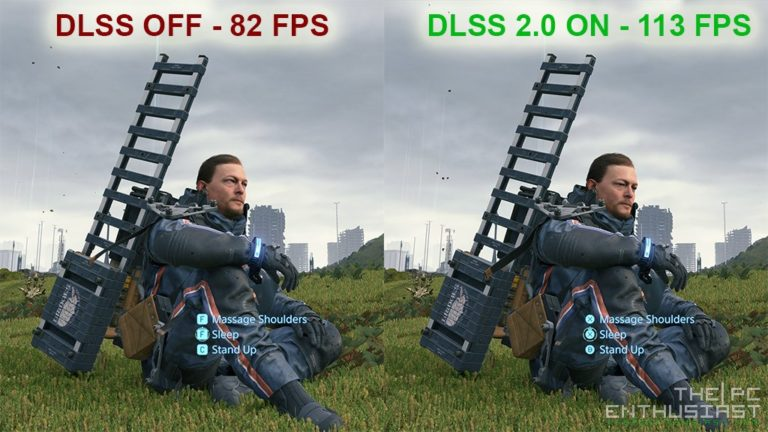 death stranding pc review dlss on vs off
