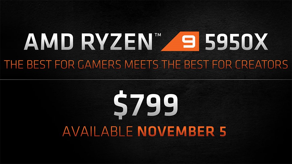 amd ryzen 9 5950x price and release date