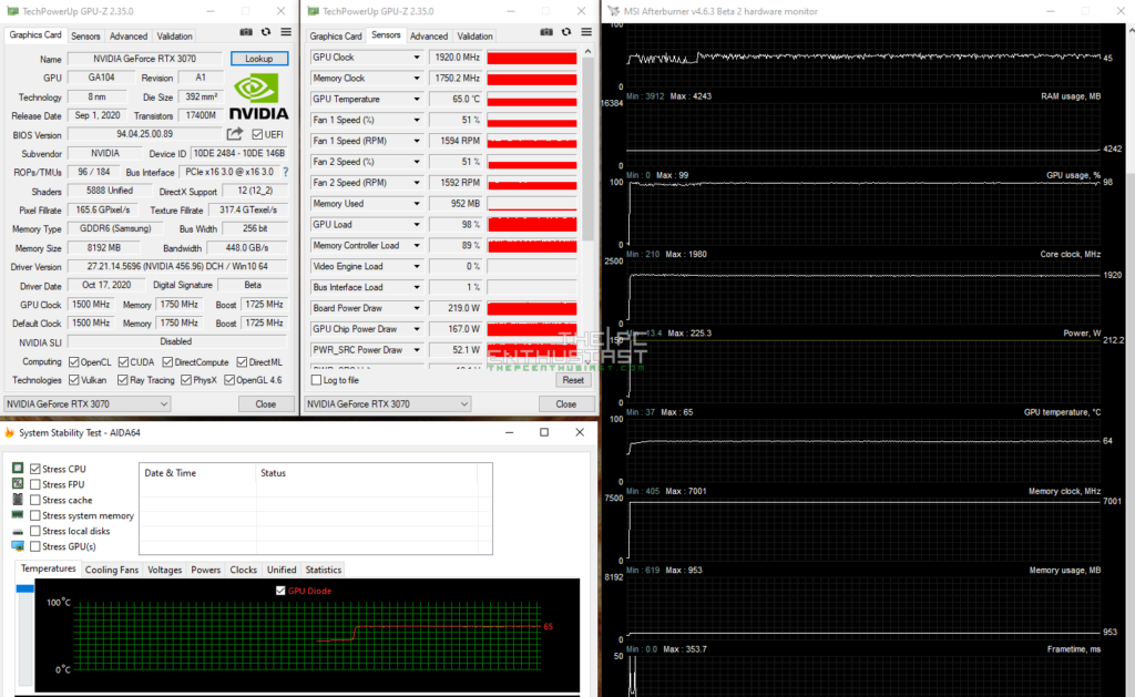 geforce rtx 3070 full load temps
