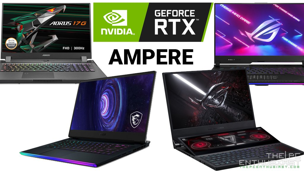 gaming laptops with nvidia rtx 30 ampere gpu