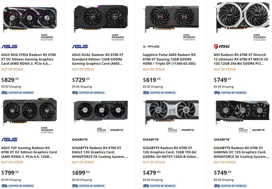 amd rx 6700 xt pricing and availability