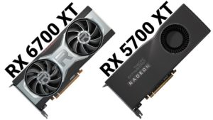 amd rx 6700 xt vs 5700 xt graphics cards