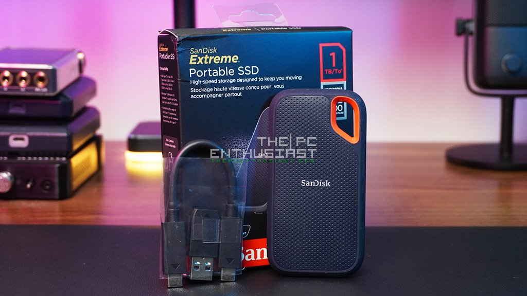 sandisk extreme portable ssd v2 packaging and contents