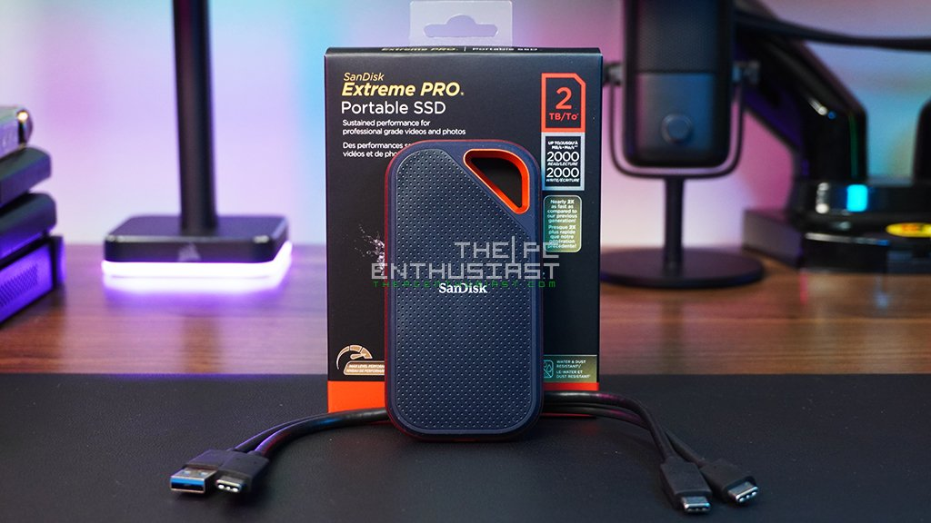 sandisk extreme pro portable ssd v2 packaging and contents